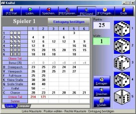 Screenshot Würfelpoker